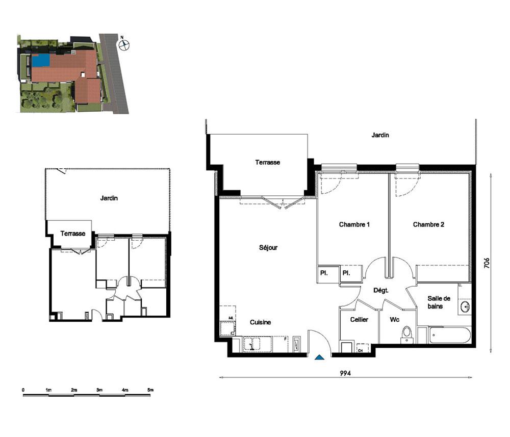 appartement n 011 myrthis t3 de m toulouse nord secteur 3. Black Bedroom Furniture Sets. Home Design Ideas