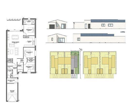 maison n 4 les ateliers d elsa t4 de m couflant. Black Bedroom Furniture Sets. Home Design Ideas