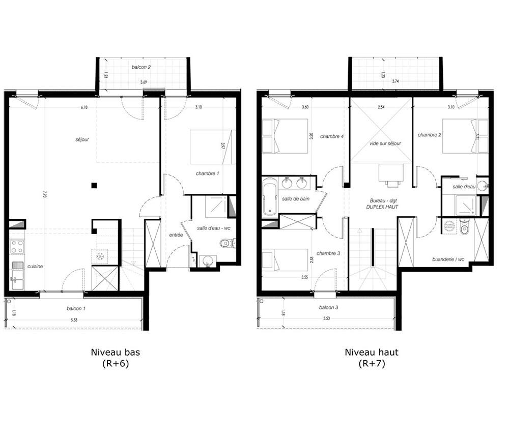Duplex n a361 les pommiers t5 de m toulouse nord secteur 3 - C est quoi un appartement duplex ...