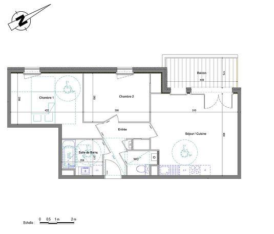 appartement n 01a301 d clic t3 de m annemasse. Black Bedroom Furniture Sets. Home Design Ideas
