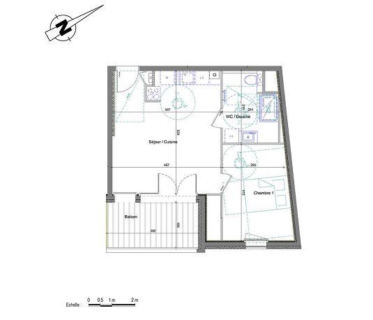 appartement n 01b102 d clic t2 de m annemasse. Black Bedroom Furniture Sets. Home Design Ideas