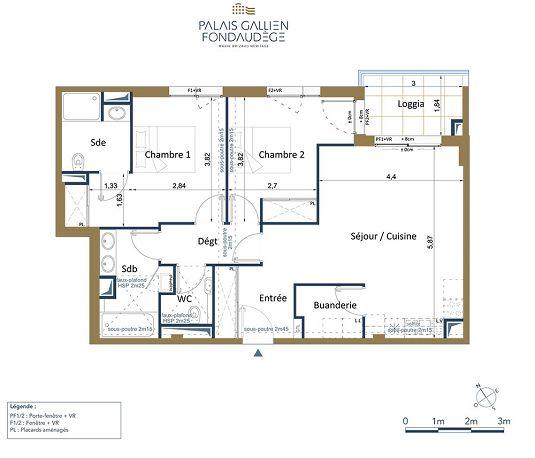 Appartement n d31 le palais gallien fondaudege tr2 t3 de for Appartement neuf bordeaux centre ville