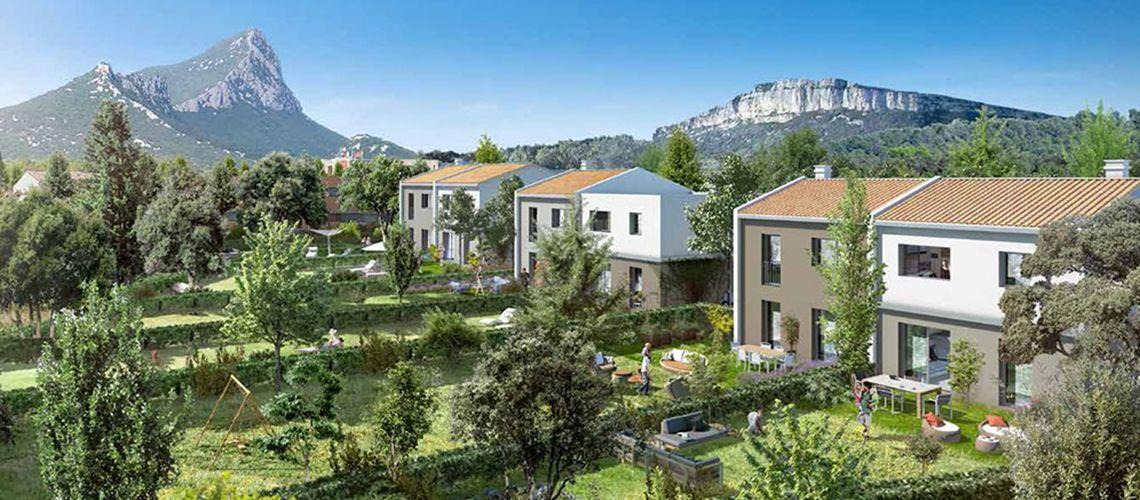Les jardins de l hortus programme neuf saint mathieu de - Residence les jardins de l aqueduc montpellier ...