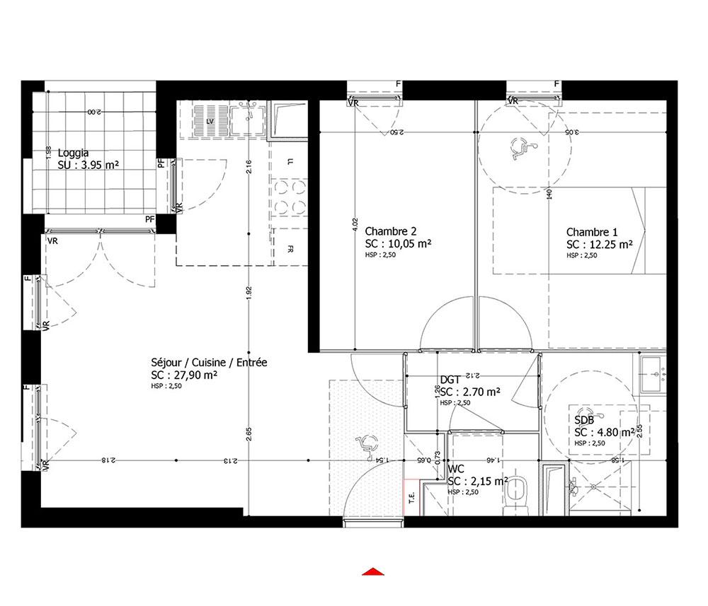 Appartement n 010b13 soprano t3 de m bobigny for Chambre 13 bobigny