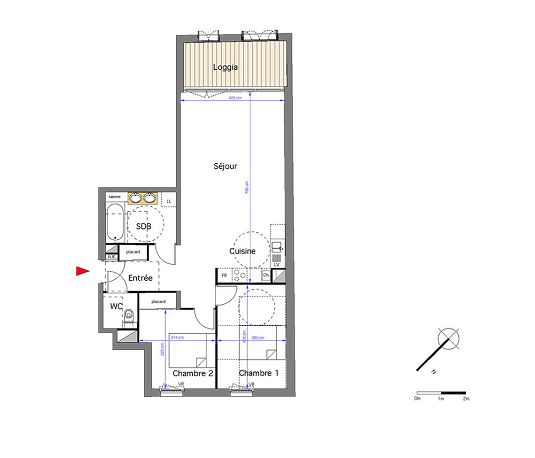 Appartement n 301 h ritage saint michel t3 de m for Appartement bordeaux st michel
