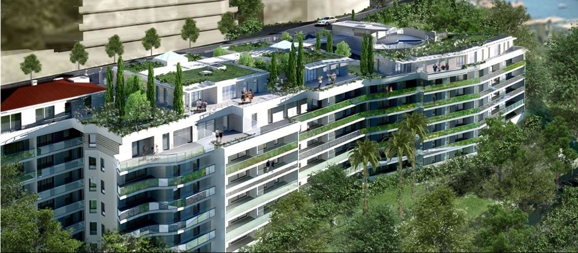 Les terrasses de l a programme neuf beausoleil for Terrasses en vue immobilier