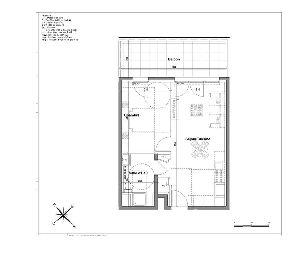 Appartement N 2302 L Aparté T2 De 40 10 M à Nice Saint Sylvestre