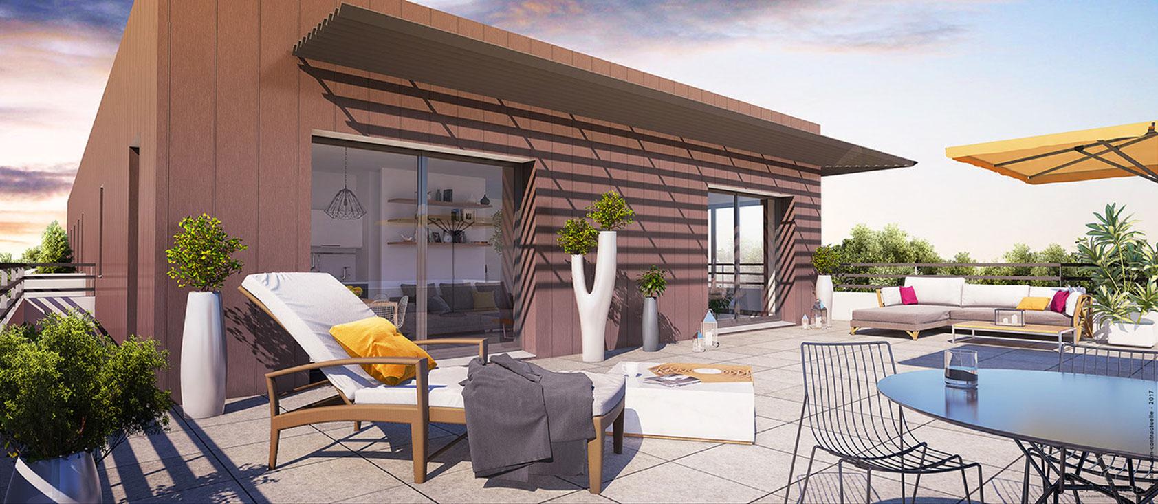 Les terrasses de la baronnerie programme neuf verri res for Terrasses en vue immobilier