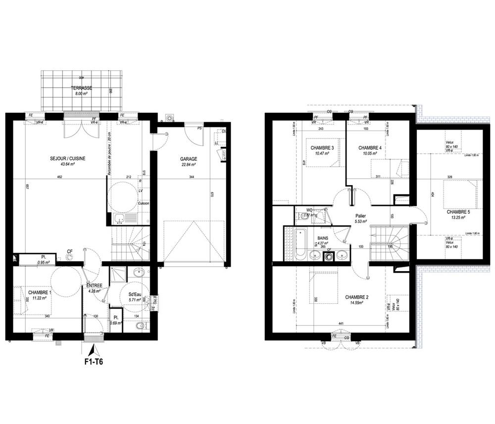 Maison n f1 domaine de ranguhan t6 de m carnac - Programme pour plan de maison ...