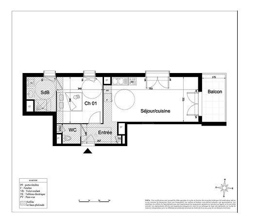 appartement n 163 le tweet t2 de m lyon 8 me arrondissement. Black Bedroom Furniture Sets. Home Design Ideas