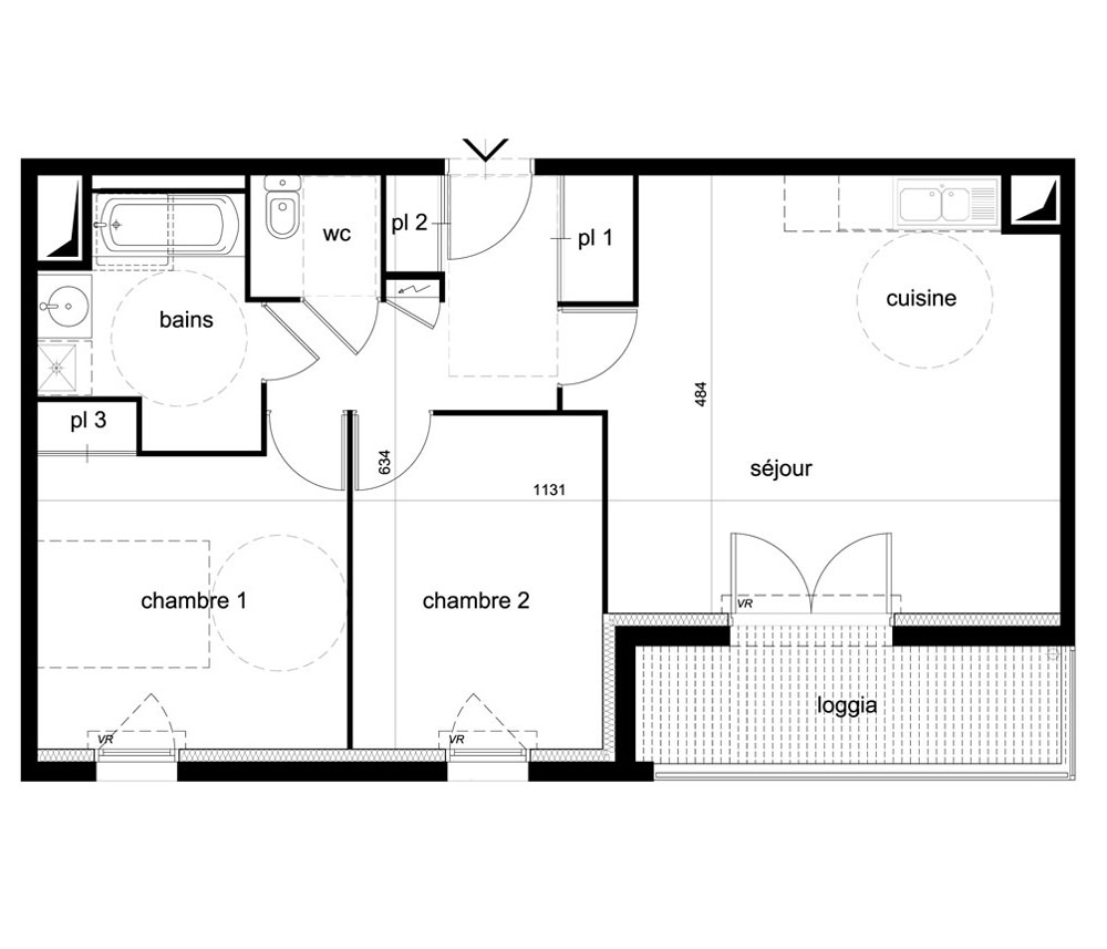 Pin Plan Appartement T3 On Pinterest