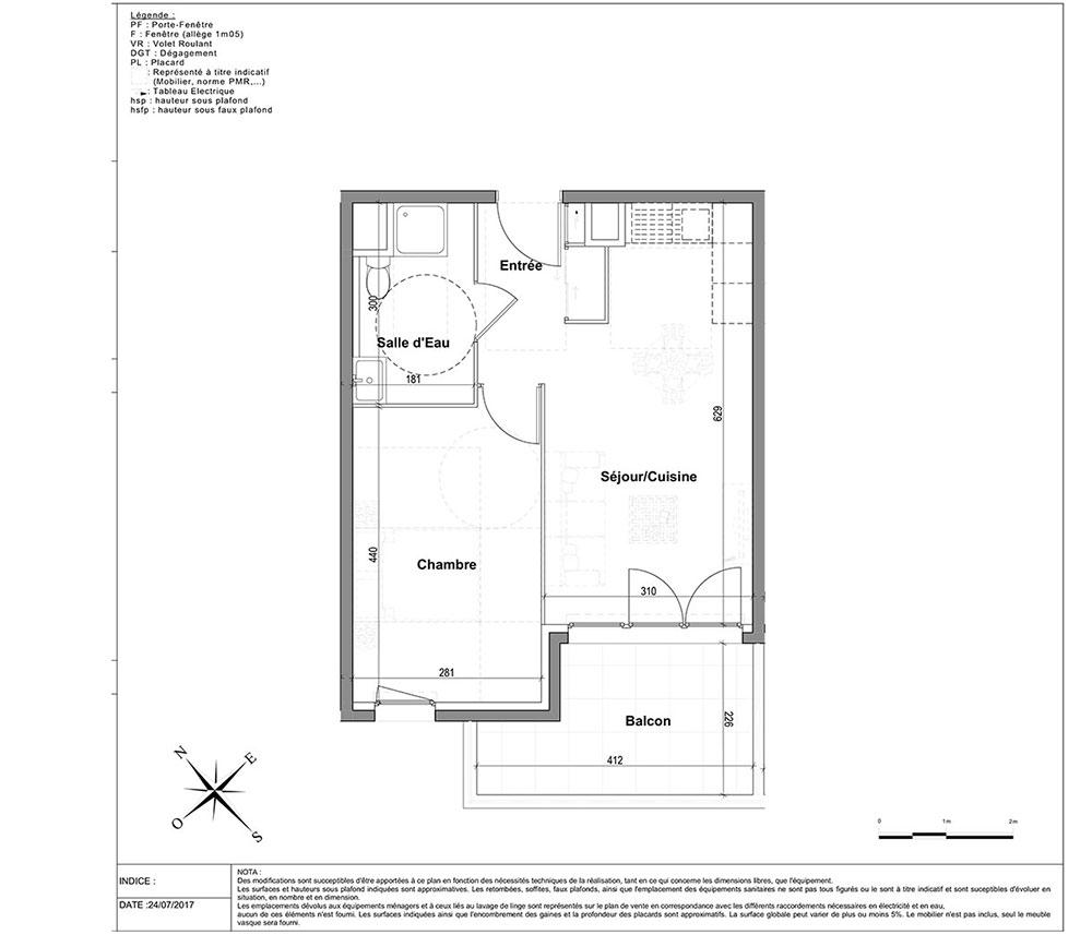 Appartement N 2205 L Aparté T2 De 39 12 M à Nice