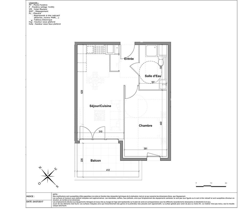 Appartement N 2504 L Aparté T2 De 39 12 M à Nice