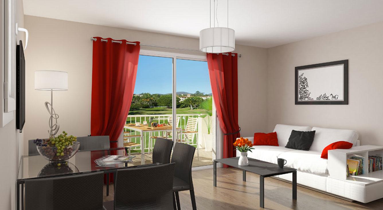 les perles de saint tropez ii programme neuf grimaud. Black Bedroom Furniture Sets. Home Design Ideas