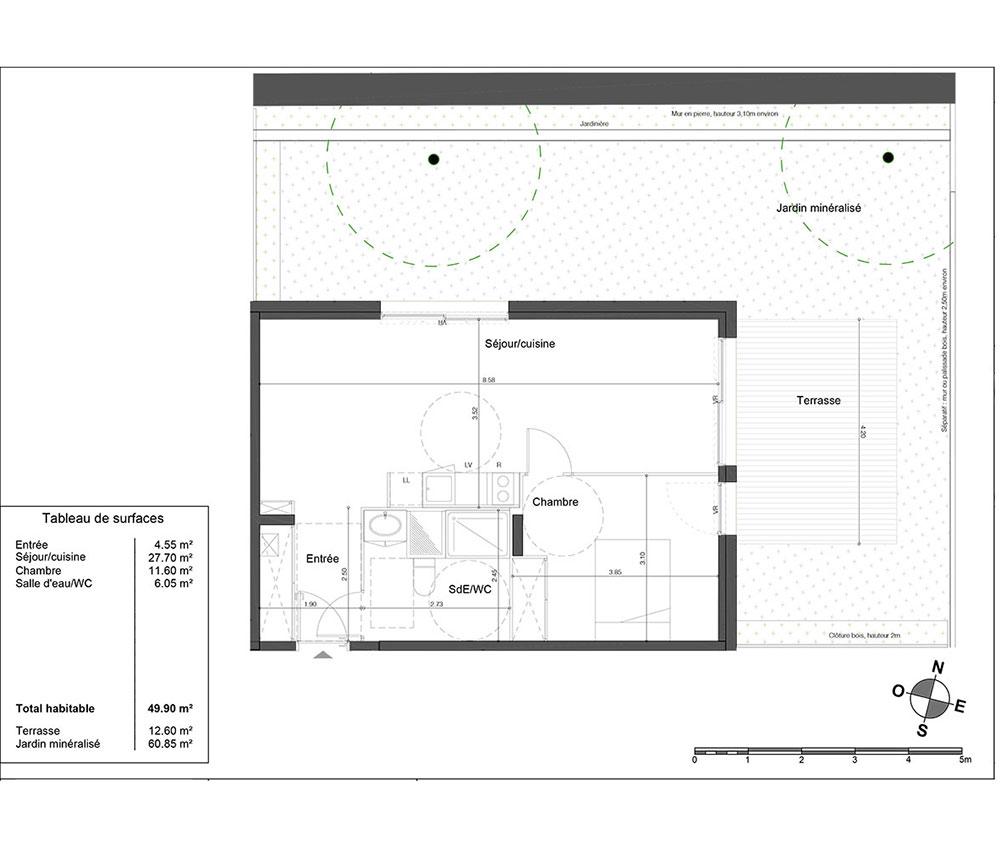 Appartement n la005 avant garde t2 de m for Appartement bordeaux chartrons t2