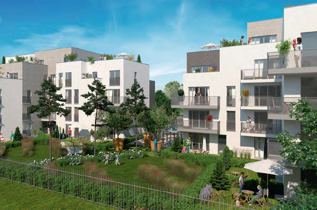Parc concorde programme neuf vigneux sur seine for Programme jardin