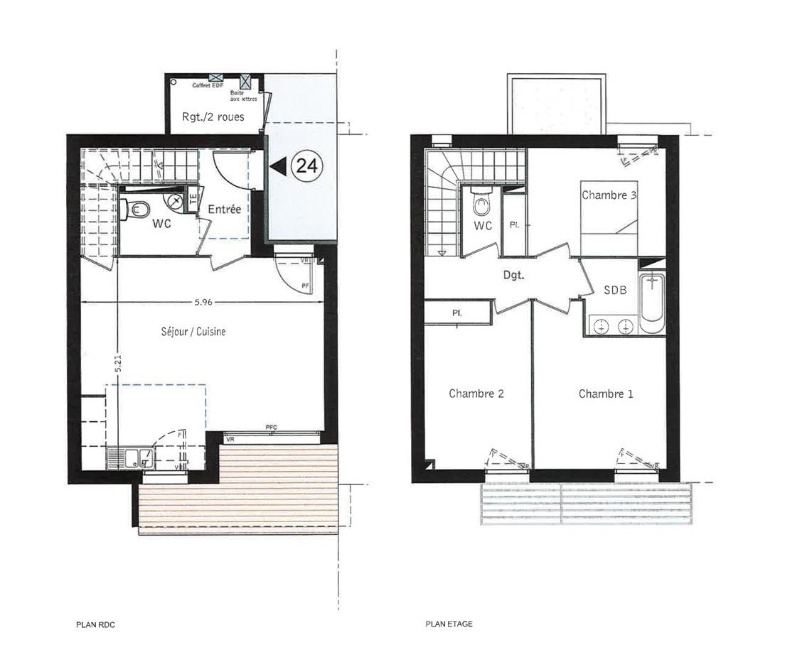Maison n m24 la llanura t4 de m balma for Programme plan maison