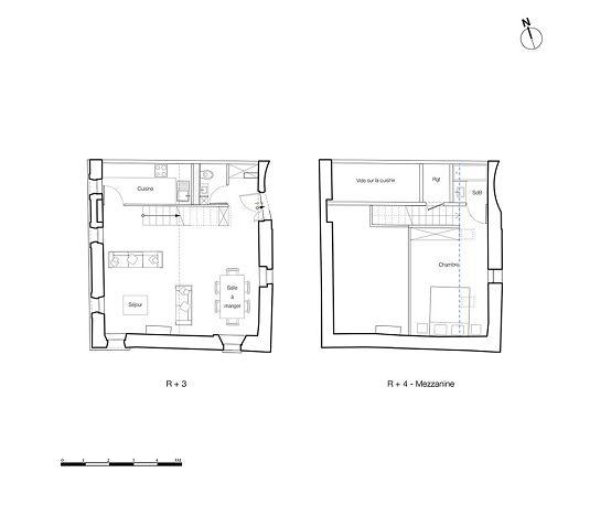 duplex n 31 maison charmier t2 de m lyon 5 me arrondissement. Black Bedroom Furniture Sets. Home Design Ideas