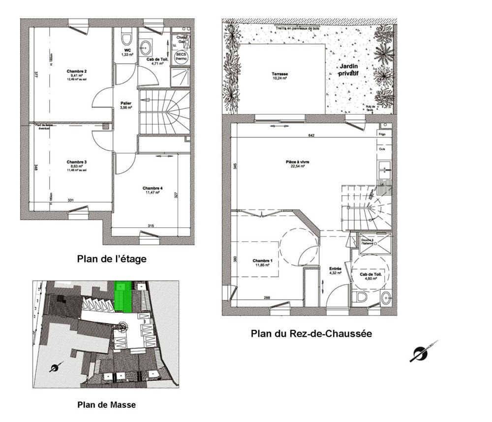 Maison 1 Etage Moderne Ventana Blog: Plan Maison T5 Etage