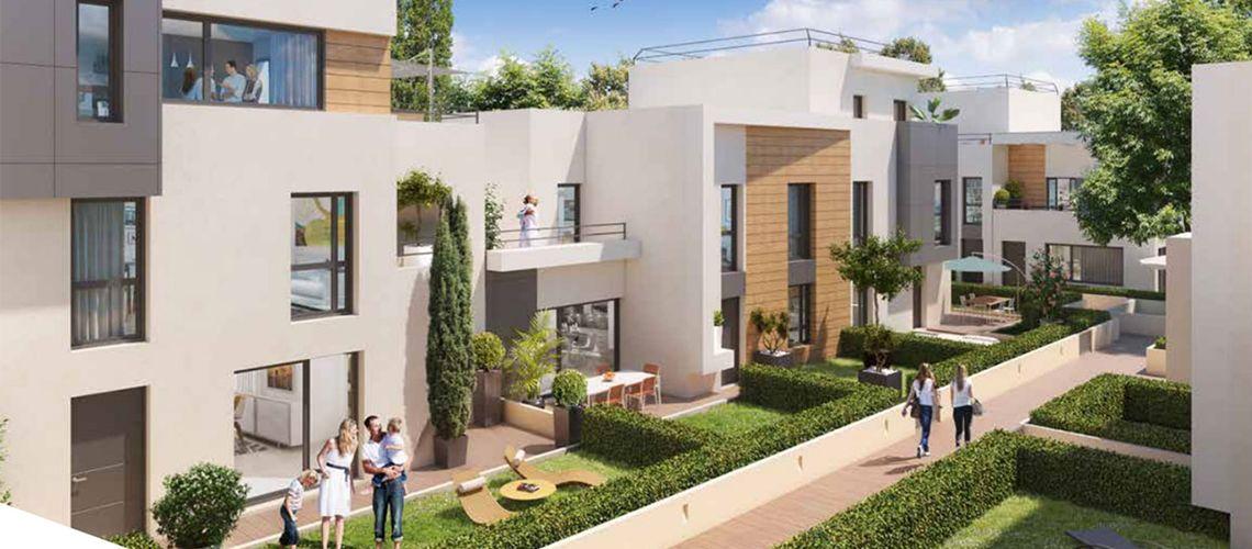 terrasses villas programme neuf colombes. Black Bedroom Furniture Sets. Home Design Ideas