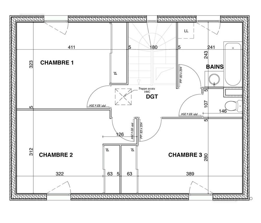 Maison n 403 eden ouest bis t4 de m craponne - Programme pour plan de maison ...