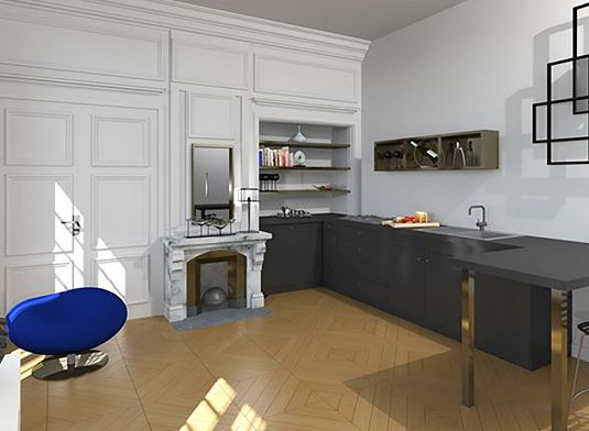 appartement n 12 rive droite pinel optimise studio de m lyon 1er arrondissement. Black Bedroom Furniture Sets. Home Design Ideas
