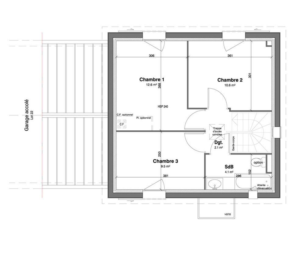 Maison n 21 les jardins des impressionnistes t4 de for T meubles mery sur oise