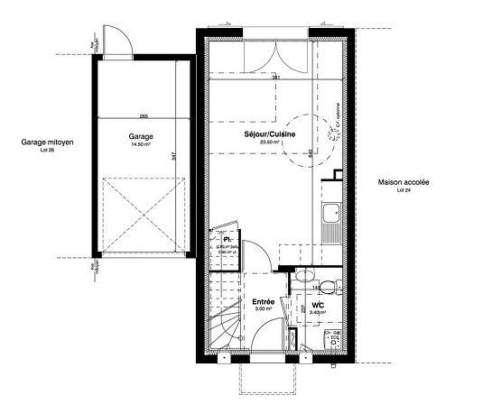 Maison n 25 les jardins des impressionnistes t3 de for T meubles mery sur oise