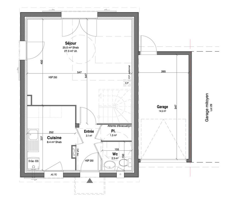 Maison n 30 les jardins des impressionnistes t4 de for T meubles mery sur oise