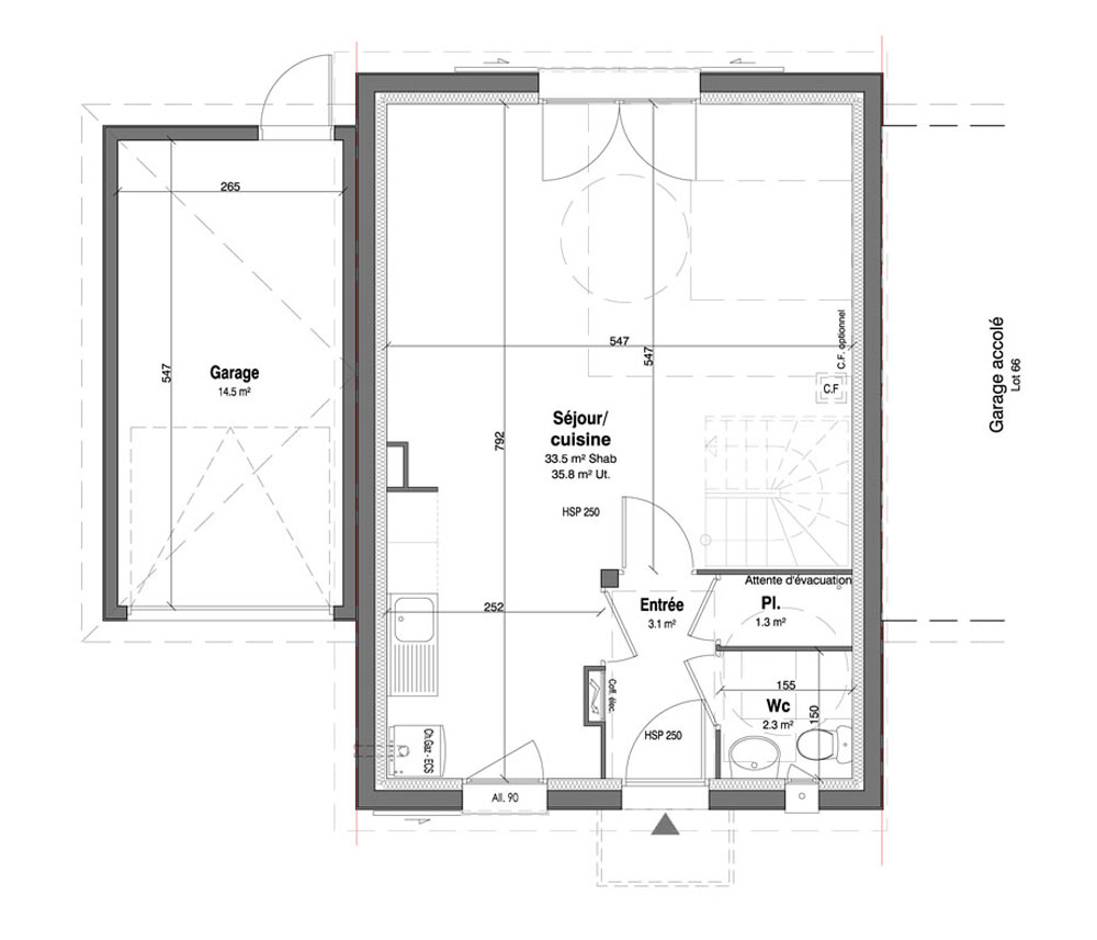 Maison n 67 les jardins des impressionnistes t4 de for T meubles mery sur oise