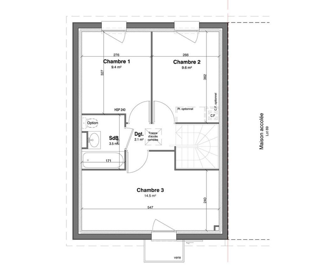 Maison n 68 les jardins des impressionnistes t4 de for T meubles mery sur oise
