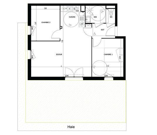 Appartement n 1103 les jardins des impressionnistes t3 for T meubles mery sur oise