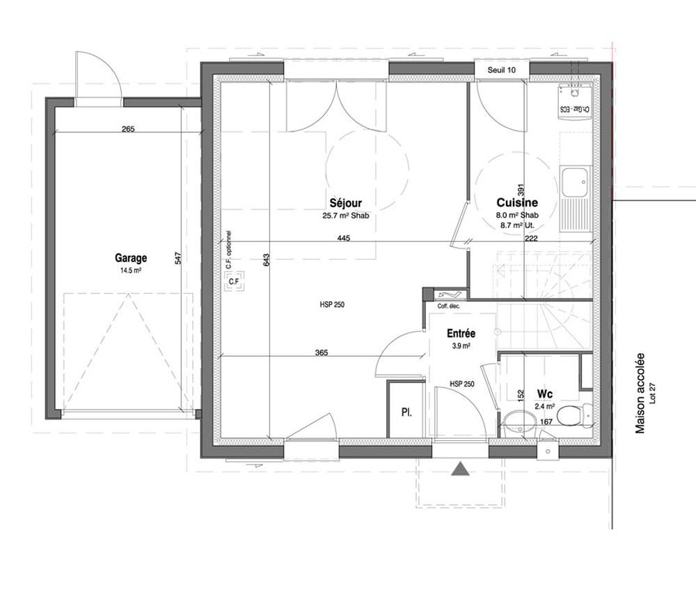 Maison n 28 les jardins des impressionnistes t4 de for T meubles mery sur oise