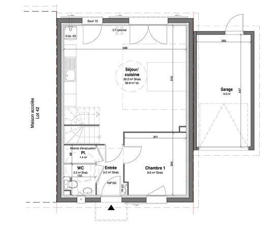 Maison n 41 les jardins des impressionnistes t5 de for T meubles mery sur oise
