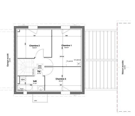 Maison n 44 les jardins des impressionnistes t4 de for T meubles mery sur oise