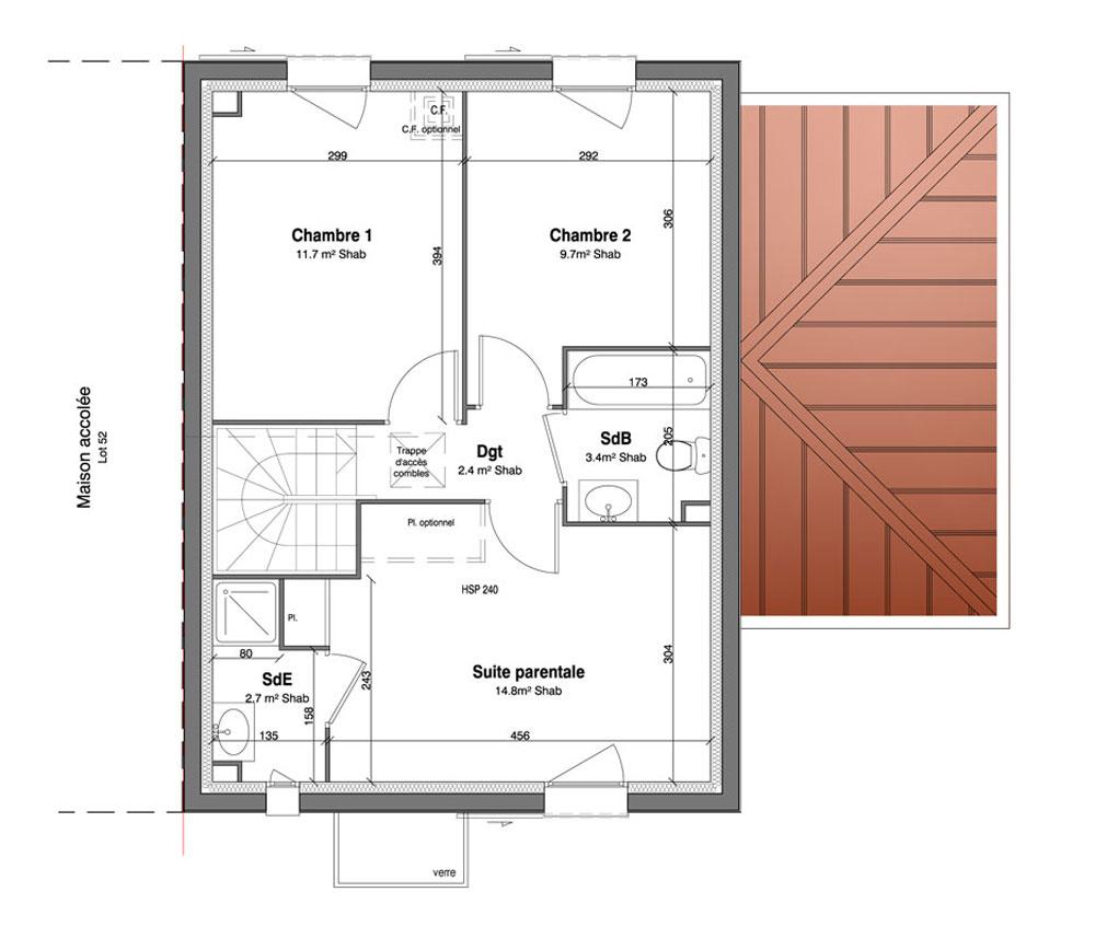 Maison n 51 les jardins des impressionnistes t5 de for T meubles mery sur oise
