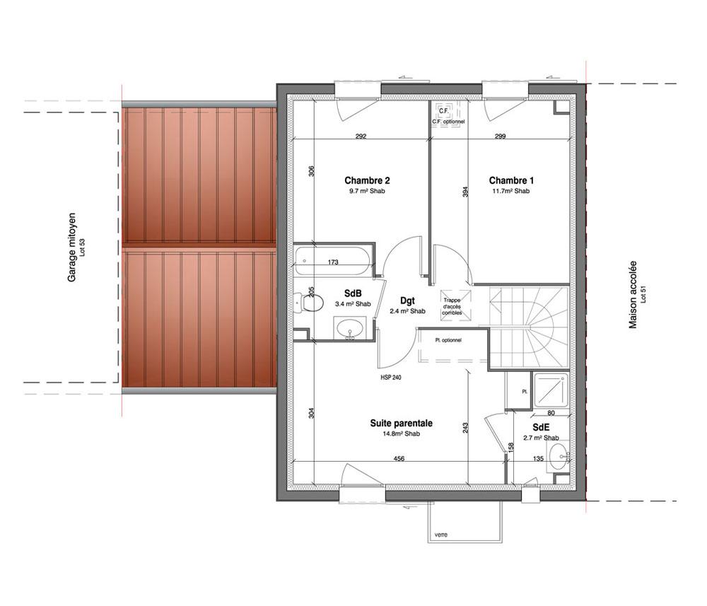 free maison n les jardins des t de for t meubles mery sur oise with plan maison t4