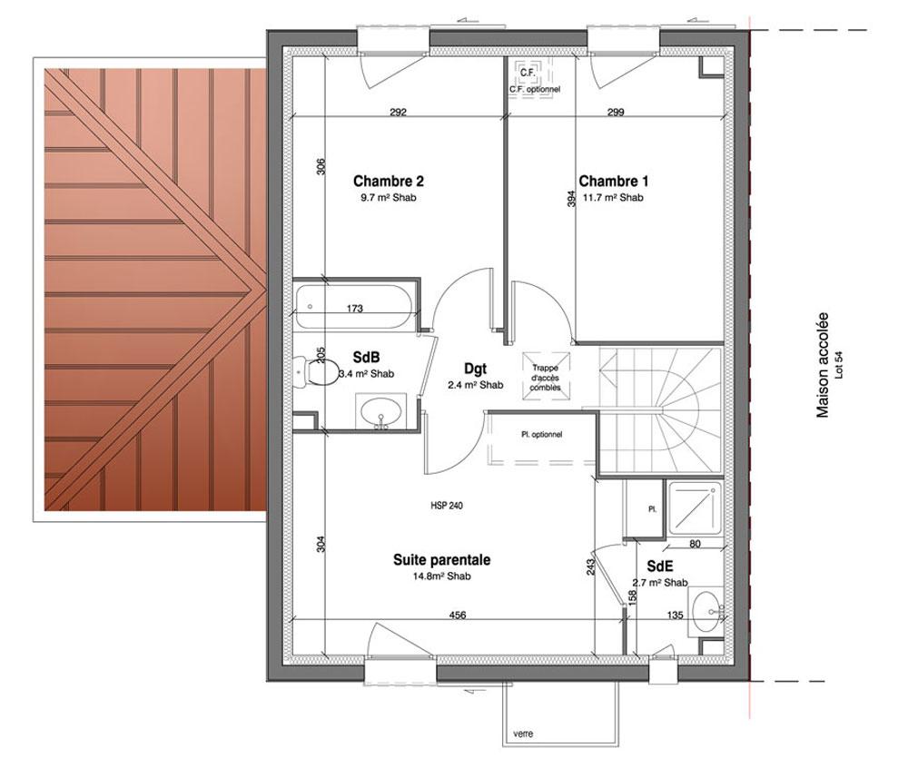 Maison n 55 les jardins des impressionnistes t5 de for T meubles mery sur oise