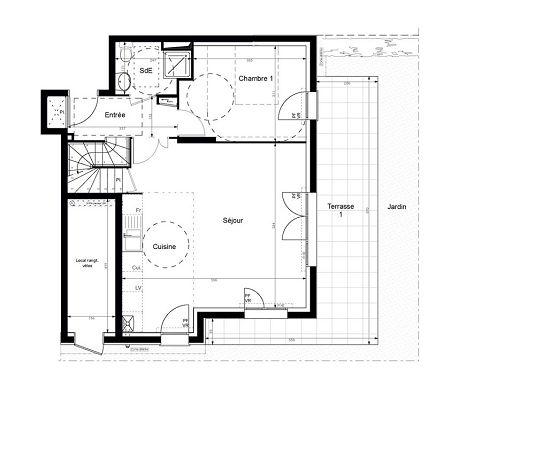 duplex n 6003 les jardins de villenes sur seine t5 de m villennes sur seine. Black Bedroom Furniture Sets. Home Design Ideas
