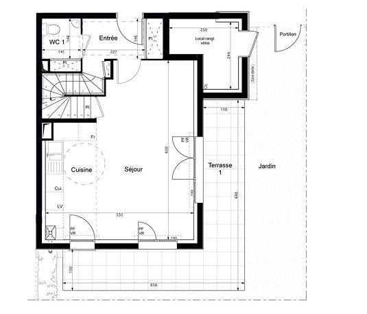 duplex n 2001 les jardins de villenes sur seine t4 de m villennes sur seine. Black Bedroom Furniture Sets. Home Design Ideas