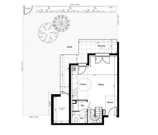 duplex n 2003 les jardins de villenes sur seine t3 de m villennes sur seine. Black Bedroom Furniture Sets. Home Design Ideas