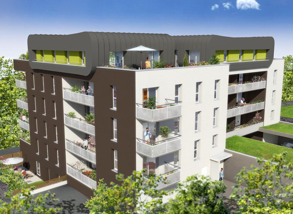 Les terrasses de bonne nouvelle programme neuf brest for Programme jardin