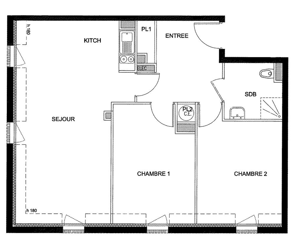 Appartement neuf t3 n 414 de m pernay for Plan epernay