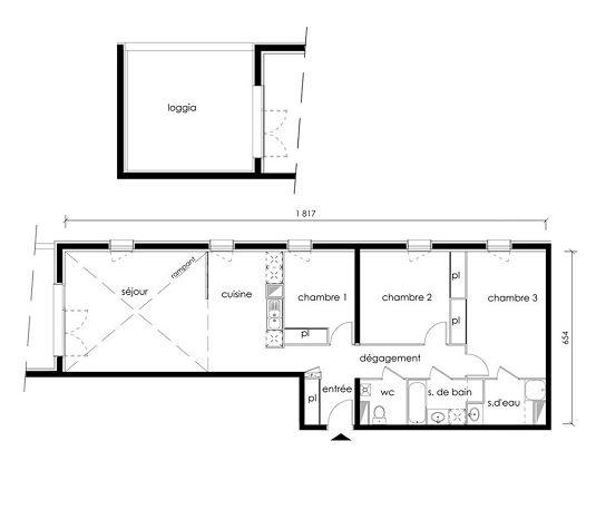 appartement n b52 factory t4 de m bordeaux maritime. Black Bedroom Furniture Sets. Home Design Ideas