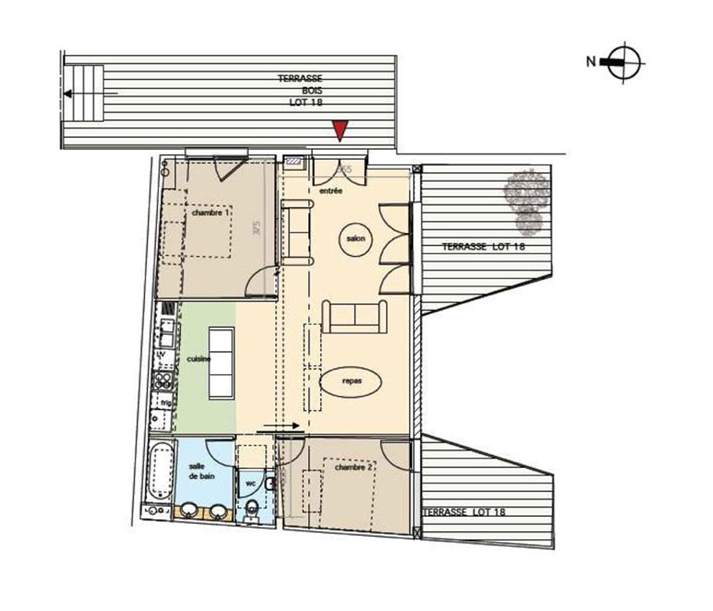 Appartement neuf t3 n 18 de m bordeaux centre ville for Appartement neuf bordeaux centre ville