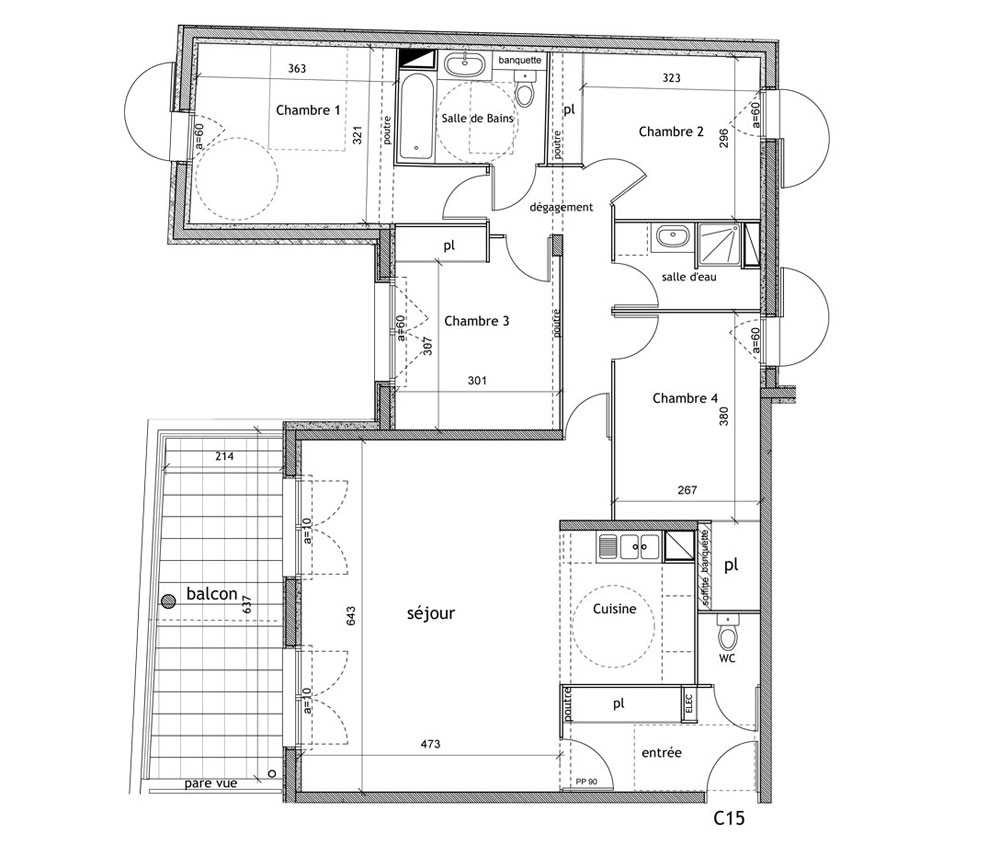 plan appartement f5
