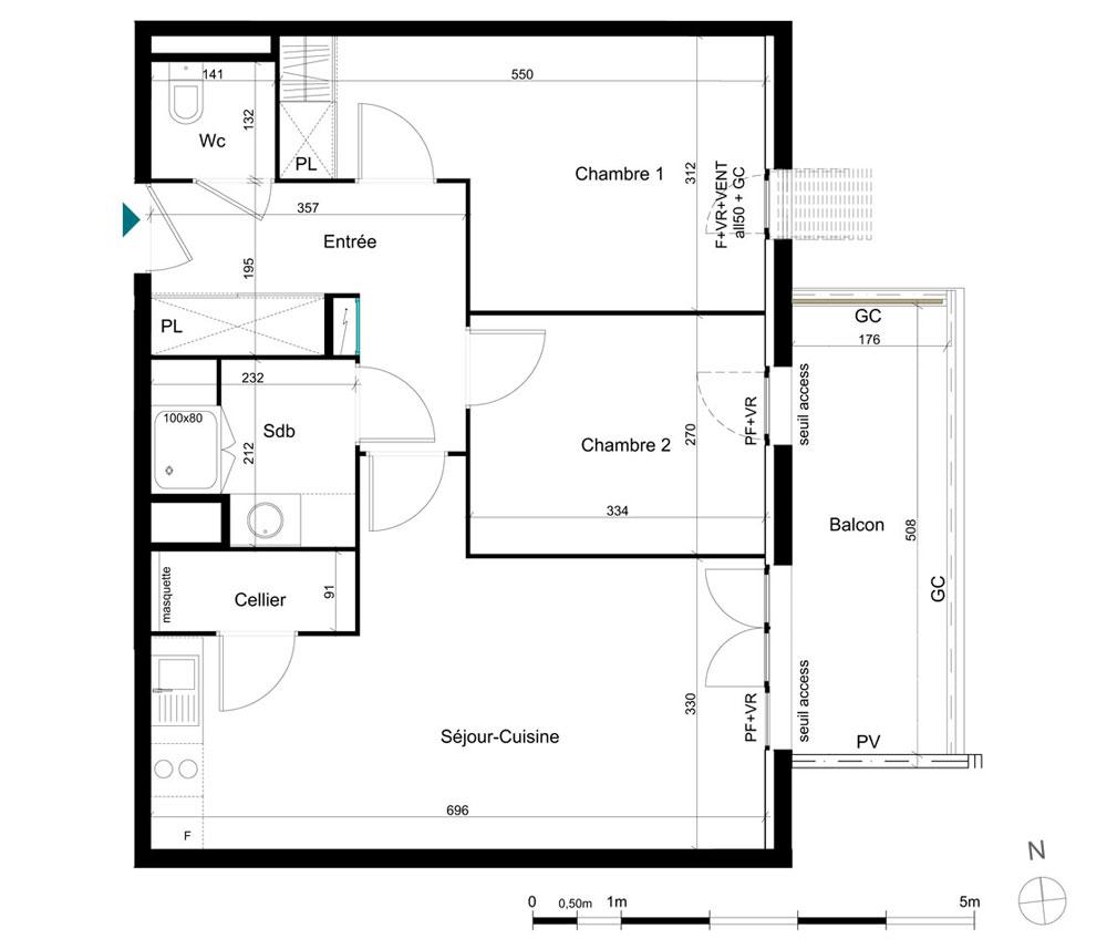 plan appartement domitys