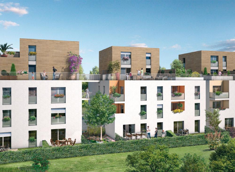 villa l a programme neuf villeurbanne. Black Bedroom Furniture Sets. Home Design Ideas