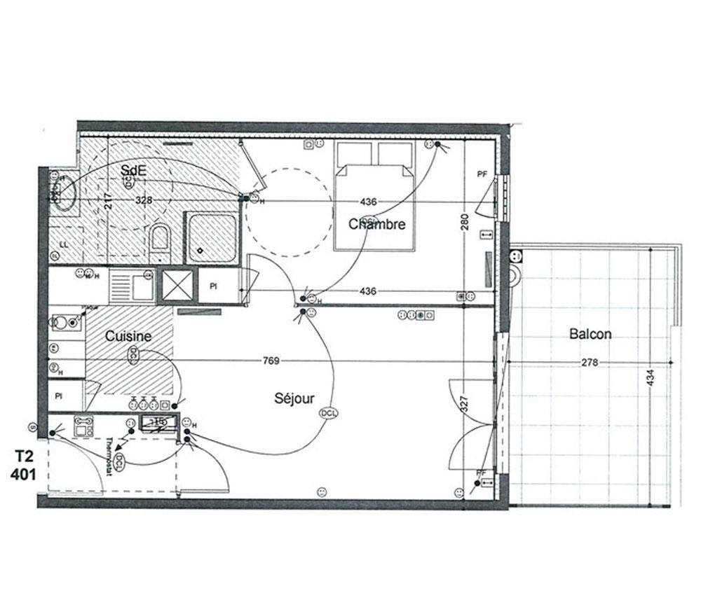 appartement n e401 les senioriales en ville de marseille. Black Bedroom Furniture Sets. Home Design Ideas