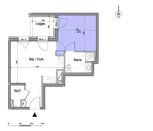 appartement n 01a405 l adresse lib ration t2 de m. Black Bedroom Furniture Sets. Home Design Ideas